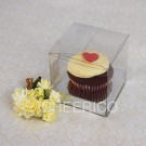 1 Cupcake Clear Box w flexi Hole silver insert($1.25pc x 25 units)