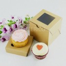 1 Window Kraft Brown Cupcake Box ($1.20/pc x 25 units)