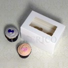2 Window Mini Cupcake Box ($1.45/pc x 25 units)