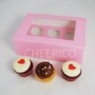 6  Window Pink Cupcake Box($2.00/pc x 25 units)