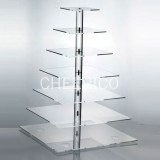 7 Tier Square Pole Cupcake Stand